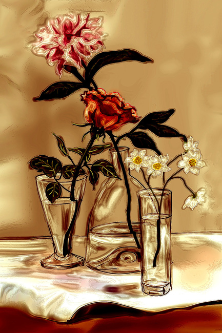 Vases and flowers-2