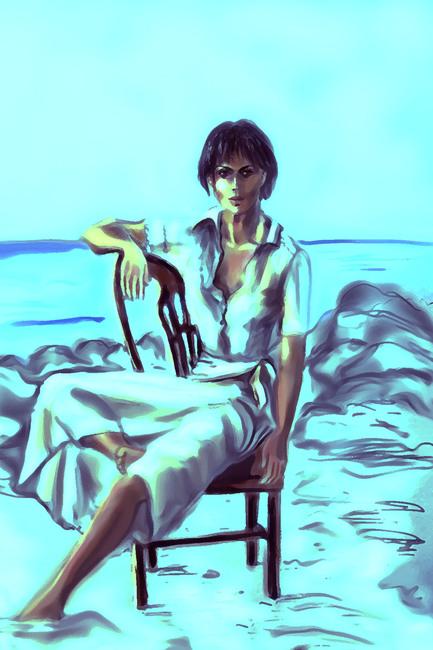 Posing at the beach-2
