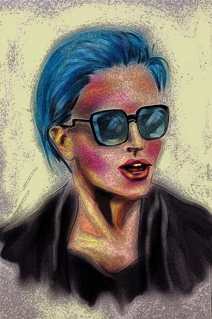 Blue impressions