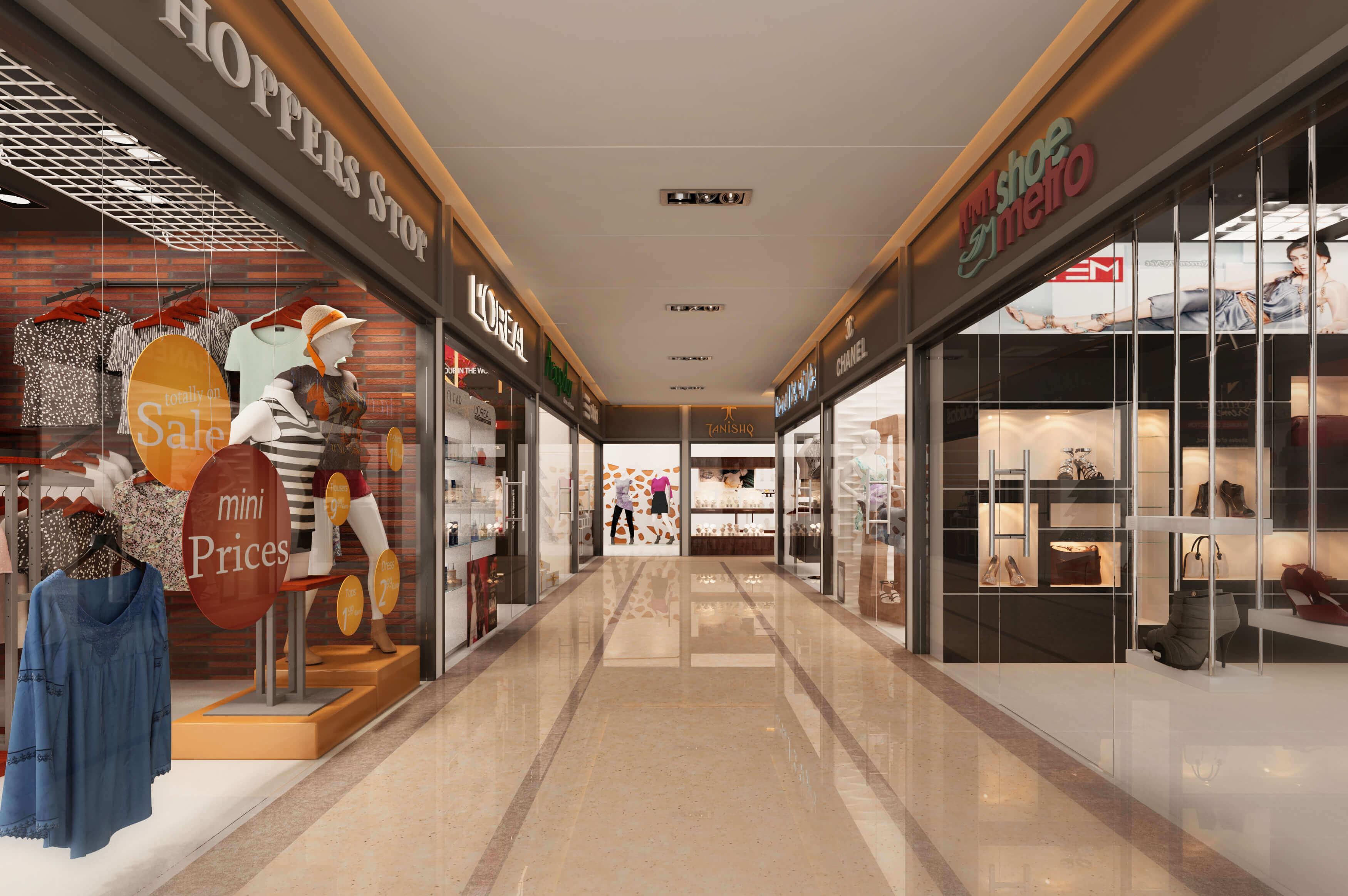 3d Shopping Mall Interior Design