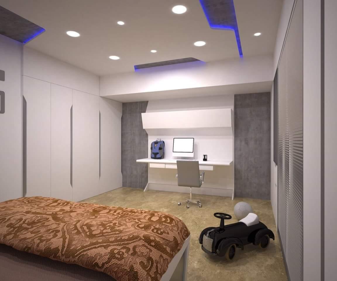 Interior Design Rendering For Residential Living Room