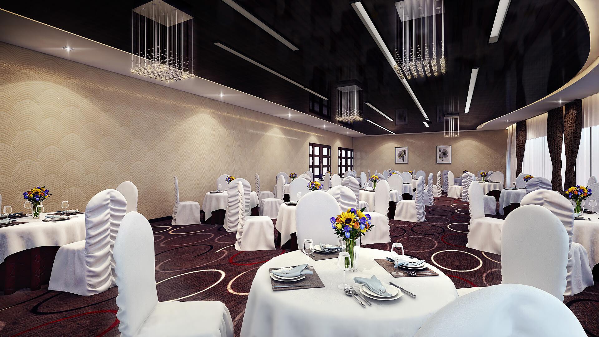 Banquet hall reception area download 3d house - 3d Banquet Hall Interior Design