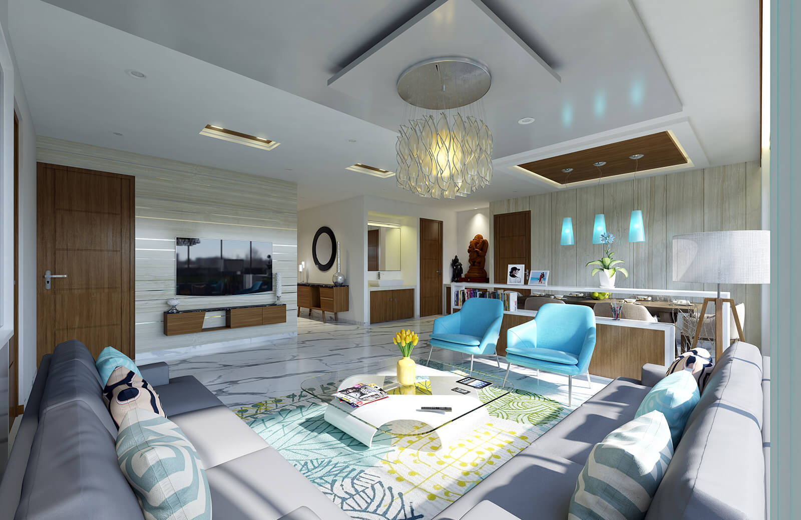 3d Interior Design Of Home Modern Living Room