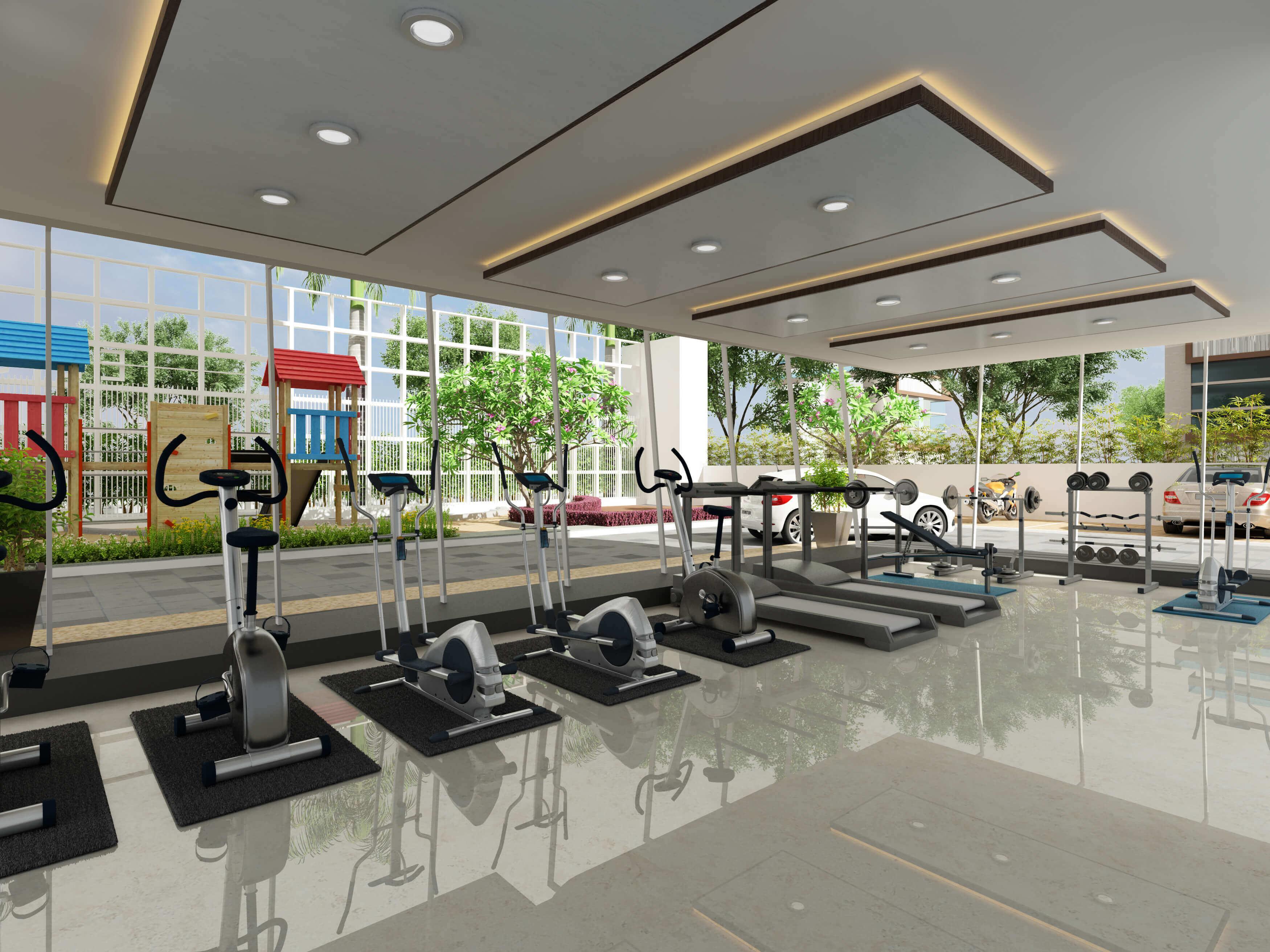 3d Gym Interior Design