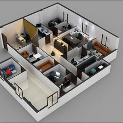 3d Shopping Mall Interior Design 3D Commercial Office Floor Plan