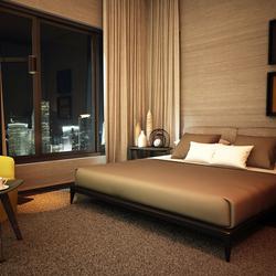 3d Interior Cgi Design Of Hotel Bedroom