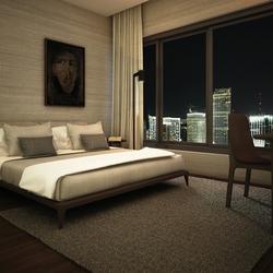 Interior Design Rendering For 3d Wooden Bedroom