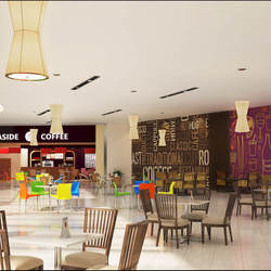 3d Restaurant Bar Interior Design Rendering