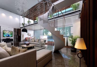 3d Interior Walkthrough Of Modern Home