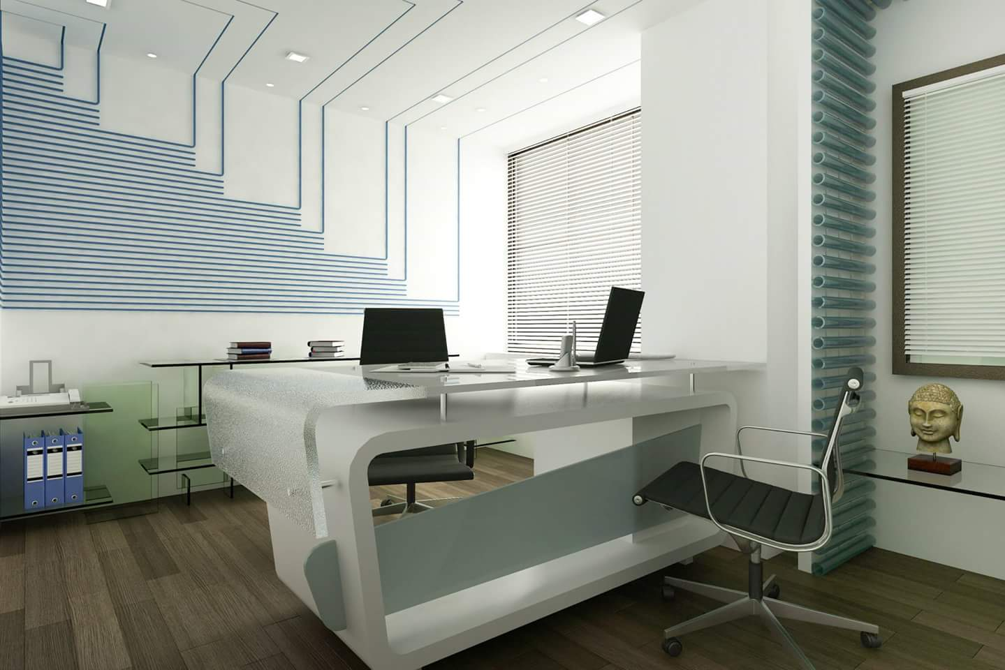 Interior Design Rendering Of Commercial Office