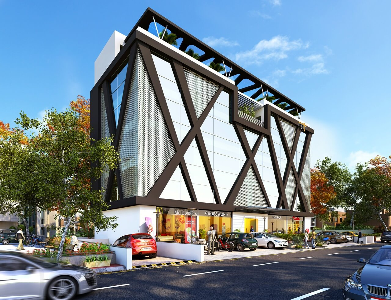 Commercial architectural exterior design kcl solutions for Commercial building exterior design