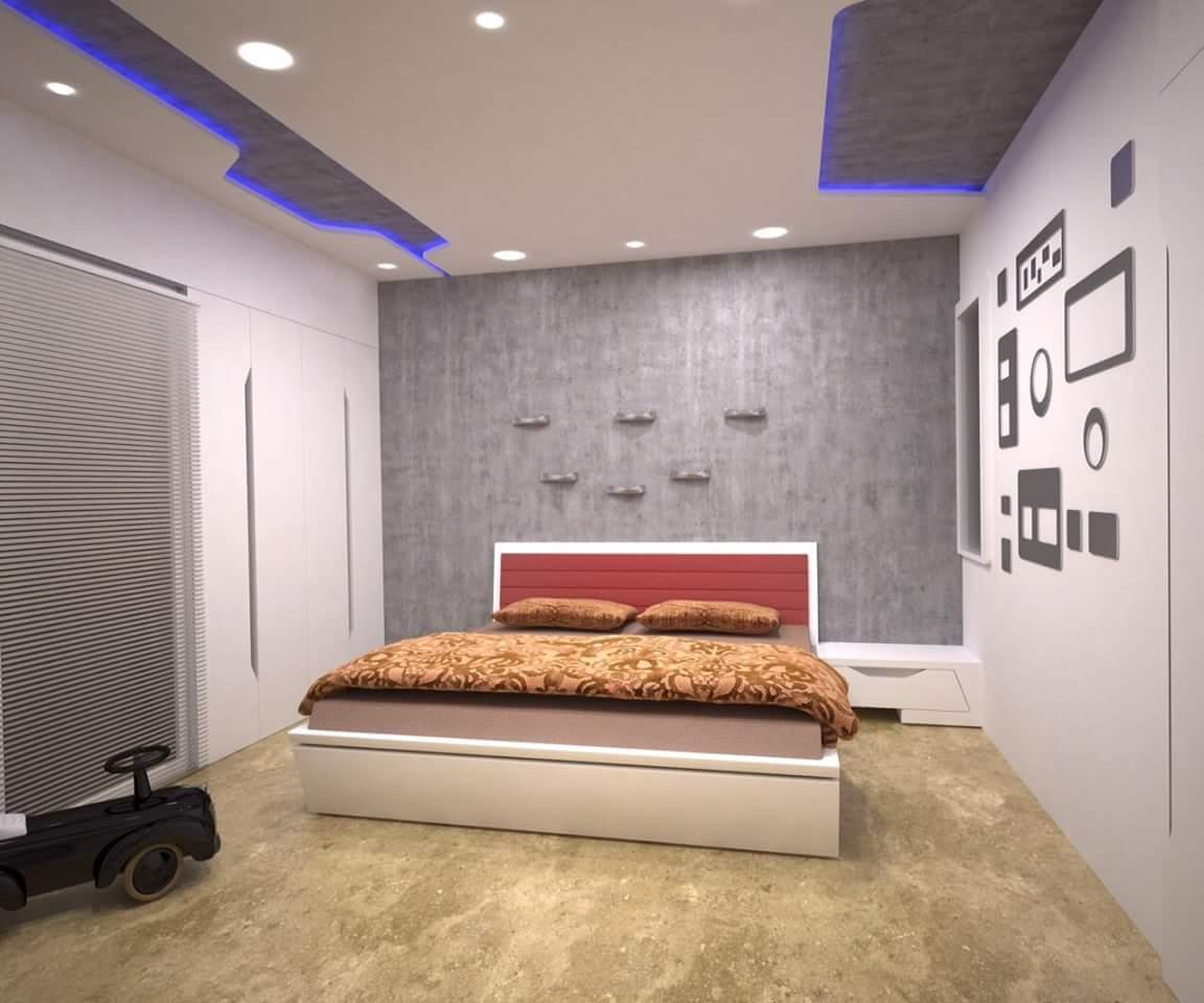 Interior Design Rendering For Classic Hotel Bedroom