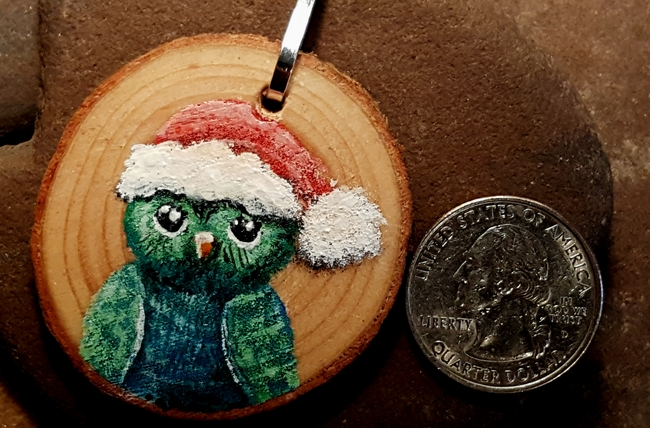 Holiday Owl necklace