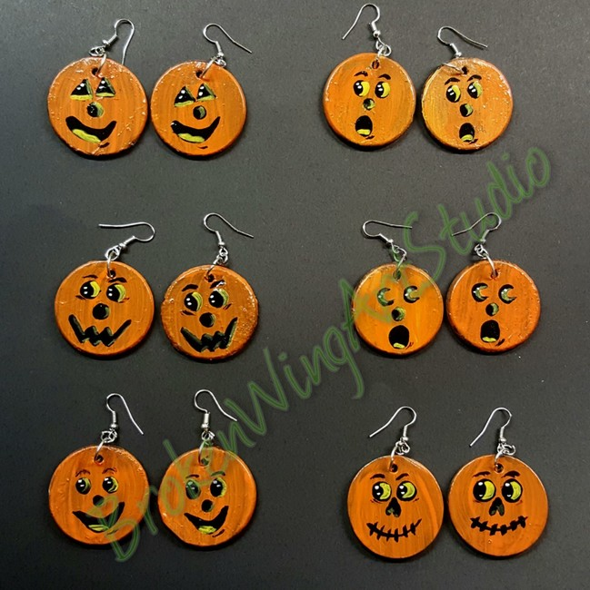 Jack-O-Lamtern earrings
