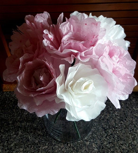 Paper Roses and Peonies