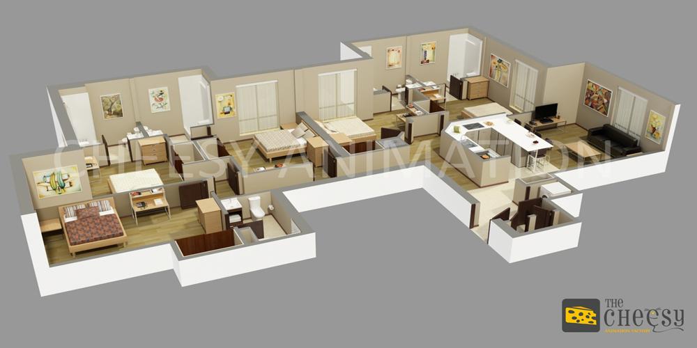 Architectural 3D Floor Plan Services Architectural 3D