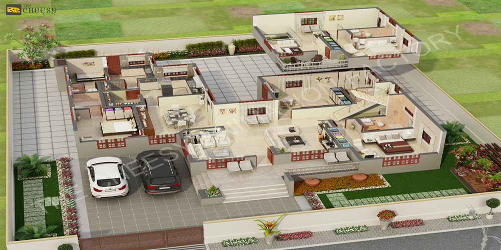 3d villa floor plan creation studio 3darchitech01 foundmyself. Black Bedroom Furniture Sets. Home Design Ideas