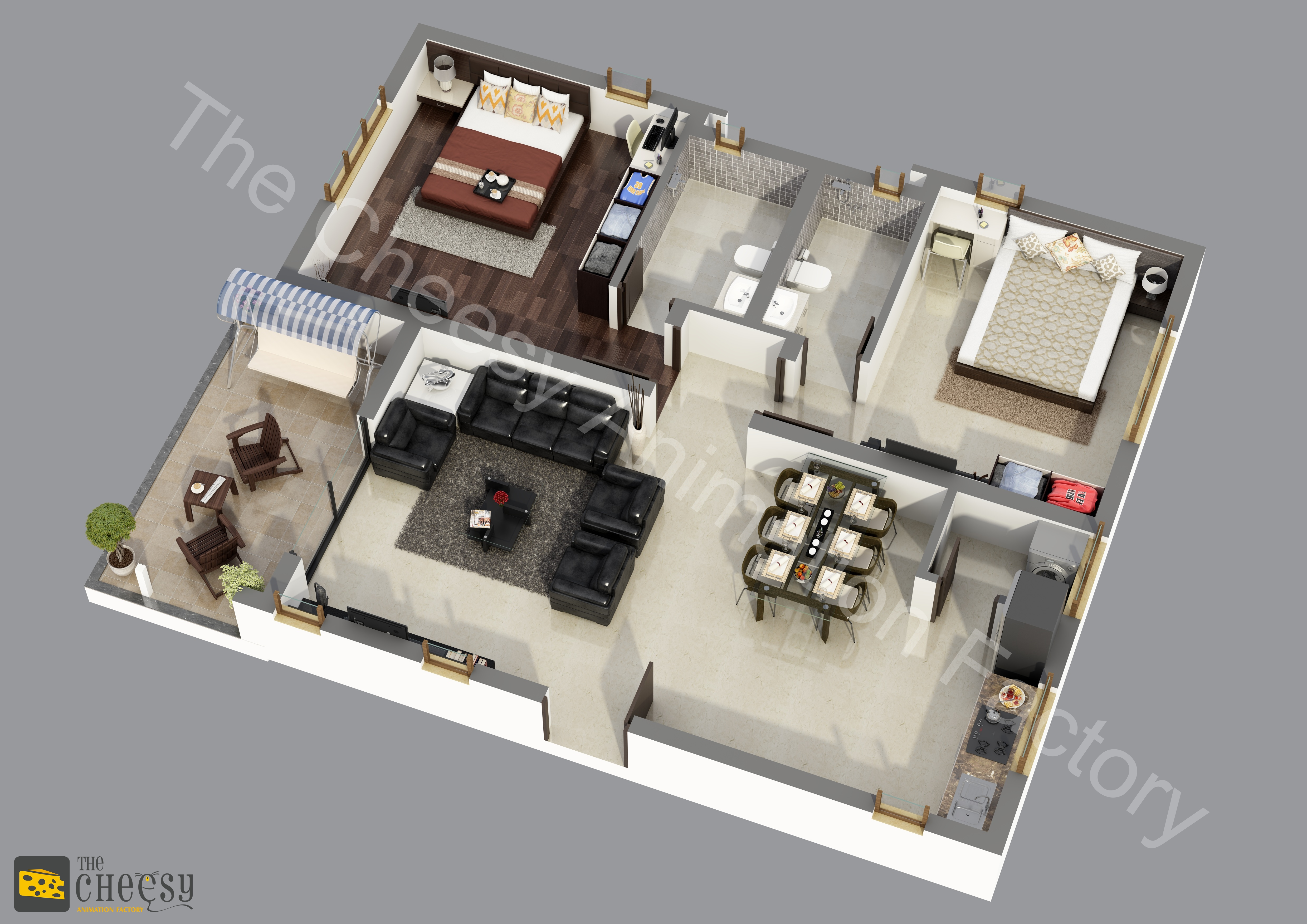 3d Restaurant Floor Plan Services 3darchitech01