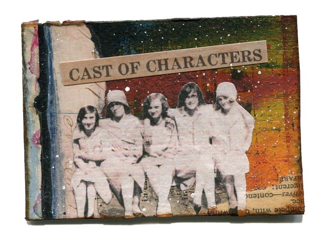 """Cast of Characters"" Original Artwork ATC, ACEO"