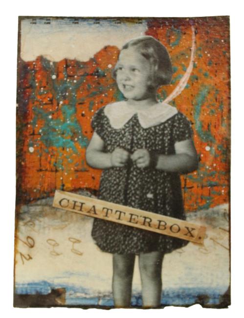"""Chatterbox"" Original Artwork ATC ACEO"