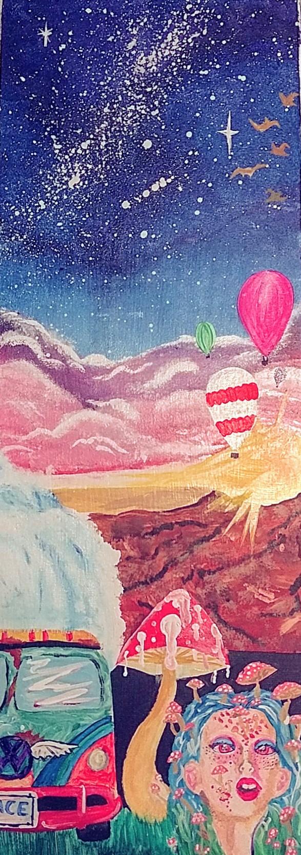 psychedelic hippie painting cierraschrawyer foundmyself