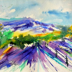 Provence watercolor