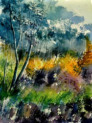 Watercolor forest