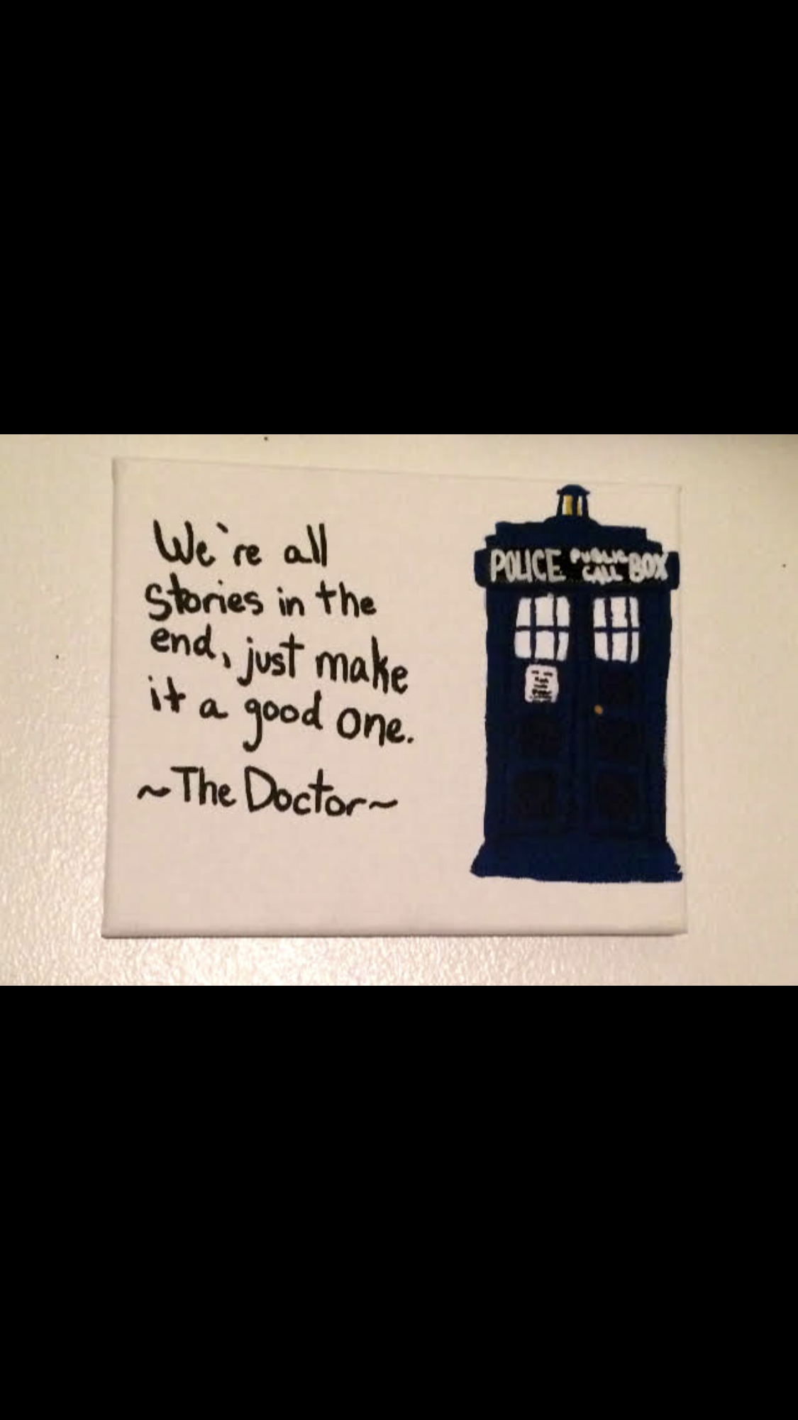 Doctor Who Quote Canvas Karissacarter Foundmyself