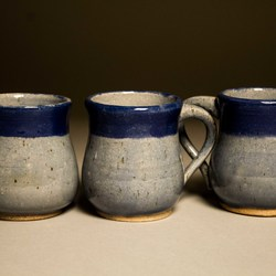 Set of Blue Mugs