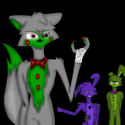 Crystalline, Twisted Bonnie, and Springtrap
