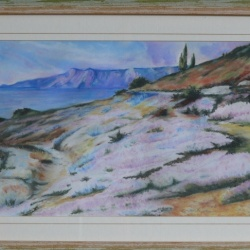 Landscape With Heather - homage to a painter C. Medovich