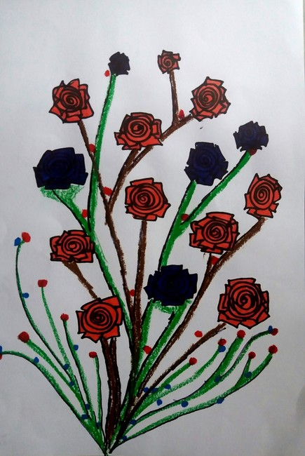 Red & Blue Roses