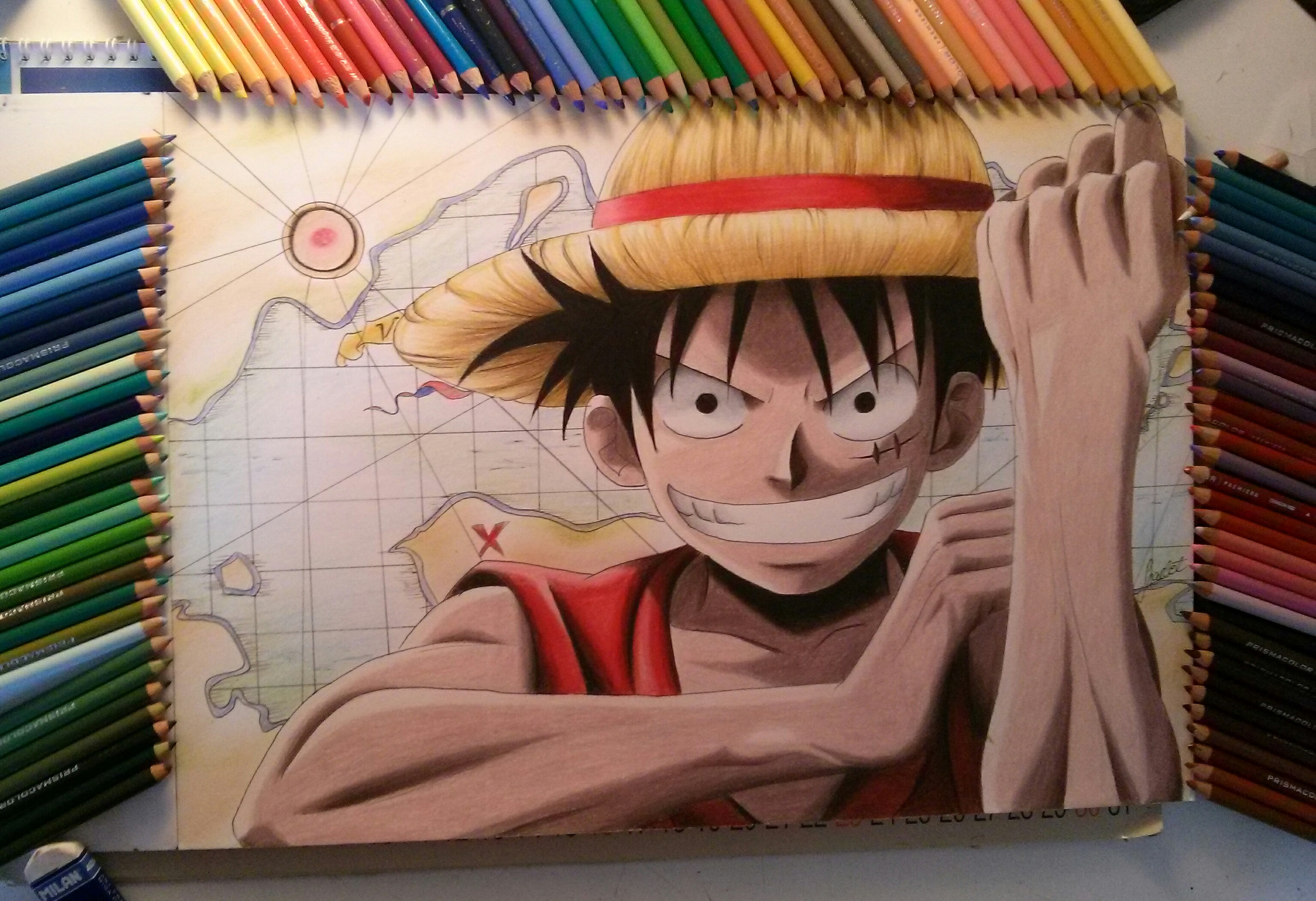 Monkey D Luffy One Piece Scarlet Drawings Foundmyself