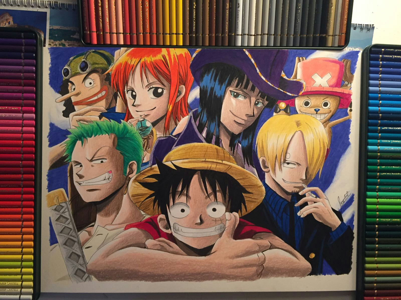 One piece anime drawing