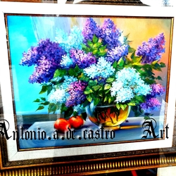 The beauty of the flower oil paint 50x70