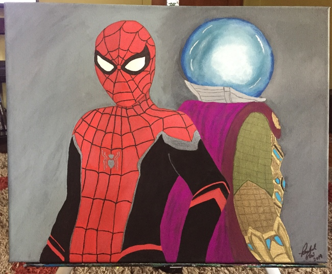 Spiderman and Mysterio