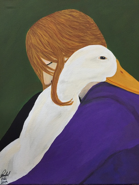 A Girl & Her Duck/SOLD