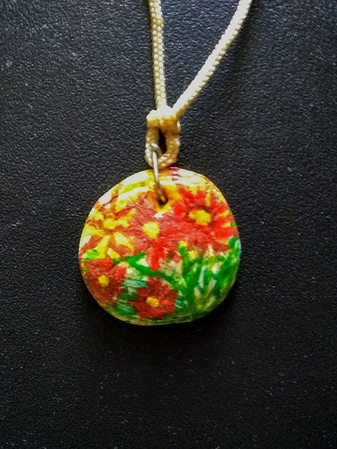 Bright Floral hand crafted necklace