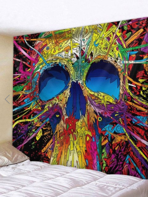 Fabric Wall Tapestry/Throw Skull Free Shipping