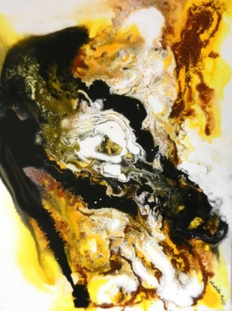 Gold & Black - Abstract Painting