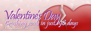 This image banner counts down the days until Valentine's Day